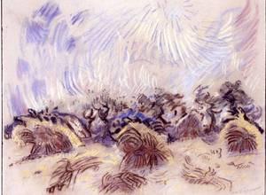 André MASSON - Drawing-Watercolor - La Moisson