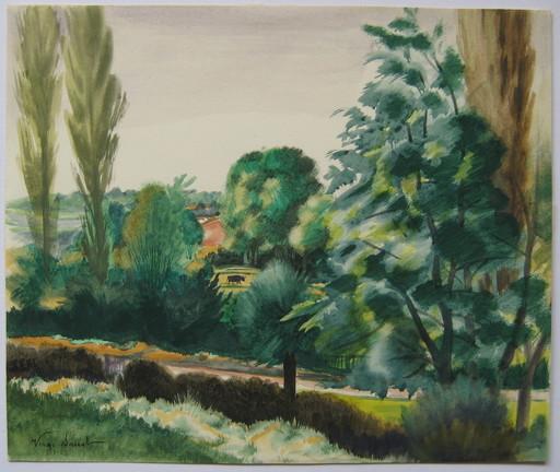 Henri VERGÉ-SARRAT - Disegno Acquarello - DESSIN 1942 SIGNÉ À LA MAIN HANDSIGNED DRAWING ART BELGE