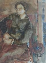 Avigdor STEMATSKY - Grabado - Seated Woman, 1938