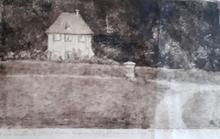 Hermann STRUCK - Print-Multiple - Goethes Gartenhaus - Landschaft mit Häusern.