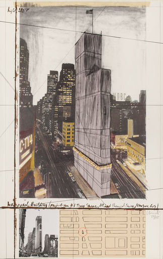 CHRISTO - Print-Multiple - Wrapped Building Project for nr 1 Times Square