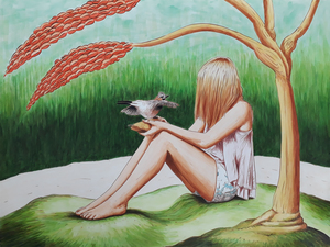Erlend STEINER LOVISA - Painting - Marilena 5    (Cat N° 6382)
