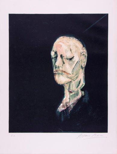 Francis BACON - Grabado - The Life Mask of William Blake