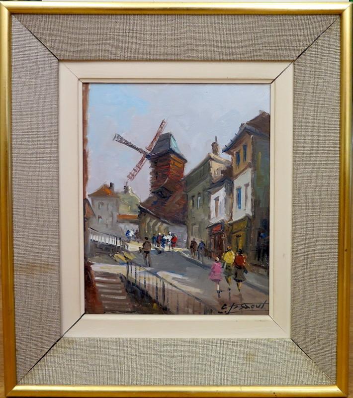 Emile LESAOUT - Painting - Vue de Montmartre