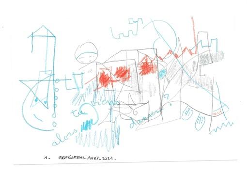 Reine BUD-PRINTEMS - Zeichnung Aquarell - Alors, tu viens danser  ? n°1