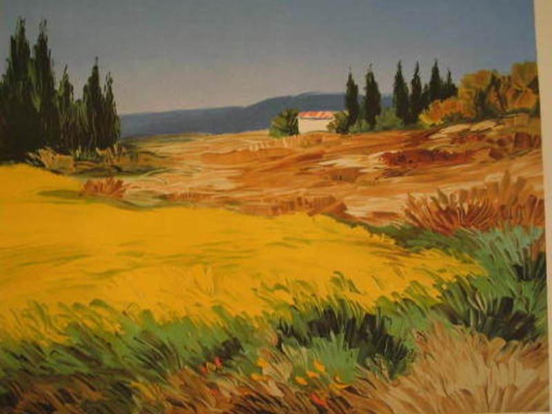 ZAROU - Druckgrafik-Multiple - Les champs de blé,1995.