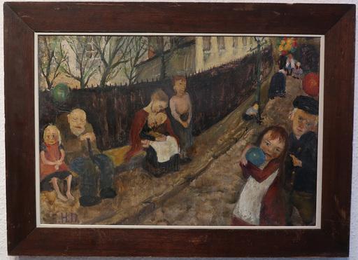 Elsa HAENSGEN-DINGKUHN - Painting - Auf der Strasse