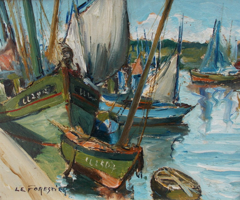 René LEFORESTIER - Peinture - Port breton