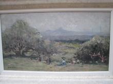 Fernand MAILLAUD - Painting - PAYSANS  DANS LES CHAMPS