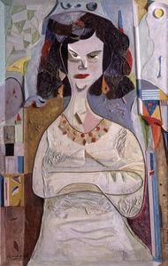 Amiram TAMARI - Painting - Sitted Woman