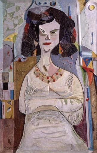 Amiram TAMARI - Pittura - Sitted Woman