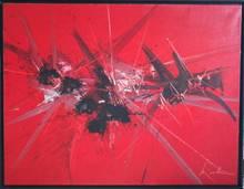 """Georges MATHIEU - Peinture -  """"HOMMAGE INOUBLIABLE"""""""