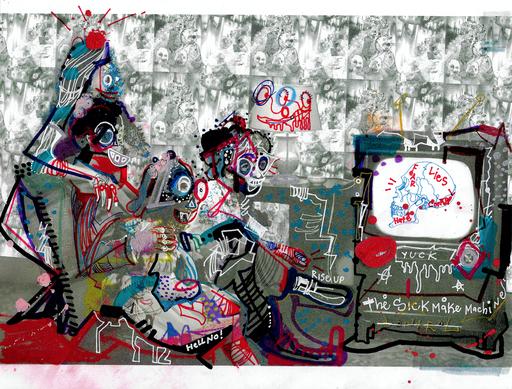 Michael ALAN - Painting - Disinformation