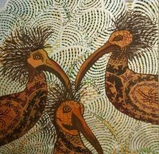 Annemarie HOFFMANN - Painting - BaumSchrapnells (birds)    (Cat N° 5837)