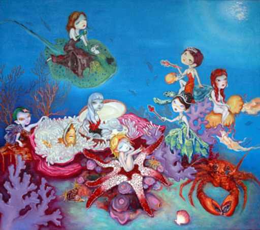 ZENG Lingxin - Pintura - My Happy Baby No.8 - Another lively world