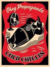 """Shepard FAIREY - Grabado - """"Cold Chillin Red """""""