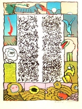 Pierre ALECHINSKY - Grabado - Brassée sismographique, 1972