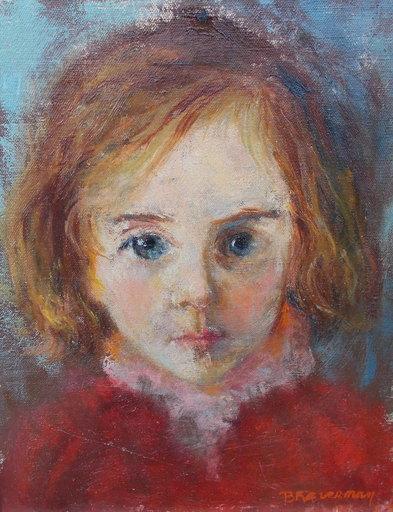 Sylvia BRAVERMAN - Painting - Portrait de fillette