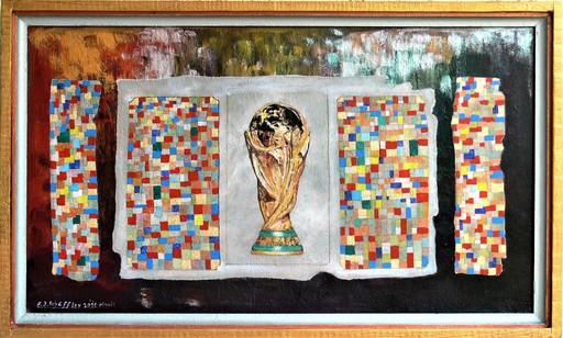 Franz Josef SCHÄFFLER - Pintura - Dokument Pokal  WM 2010 Spanien