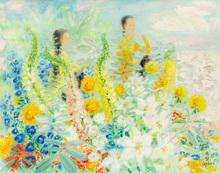 黎譜 - 绘画 - Figures with Flowers