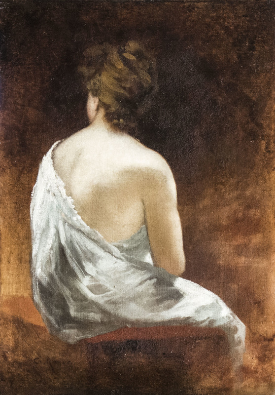 Charles ROYER - Gemälde - Nude from the back