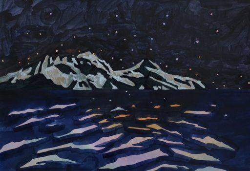 Marie LARRIVÉ - Drawing-Watercolor - « ILE NOIRE »