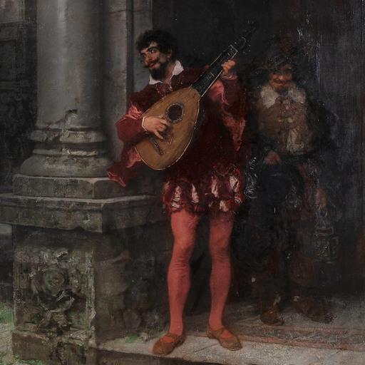 Carl L. F. BECKER - Pintura - Cyrano e Rossana