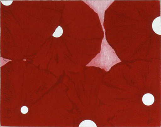 Donald SULTAN - Print-Multiple - Six Red Flowers