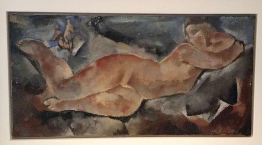 Rodolphe Théophile BOSSHARD - Painting - LIEGENDER AKT