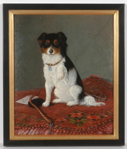 "Karel BENES - Peinture -  ""Portrait of a dog"""