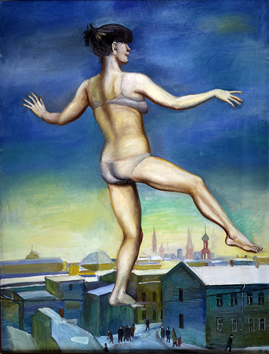 "Tatiana NAZARENKO - Pintura -  ""Circus in the Square""  Oil on canvas."