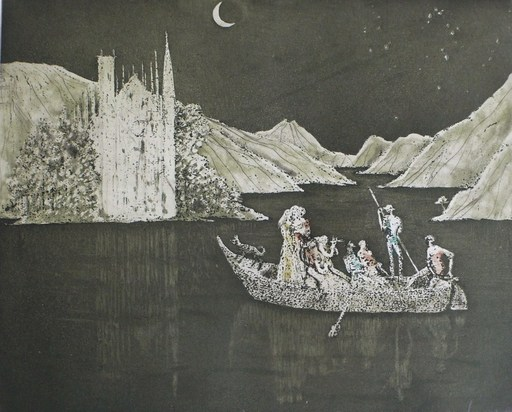 Lars BO - Estampe-Multiple - Echo du lac