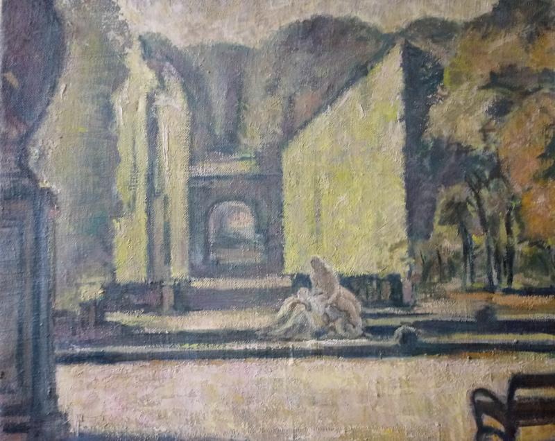 Franz LEX - Pintura - Najadenbrunnen und Römische Ruine Schönbrunn