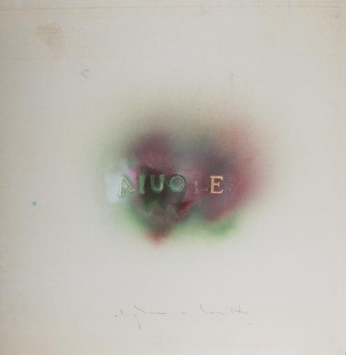 Alighiero BOETTI - Drawing-Watercolor - Aiuole