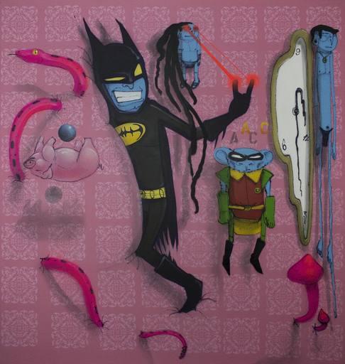 CRANIO - Peinture - Batman and Robin in Wonderland