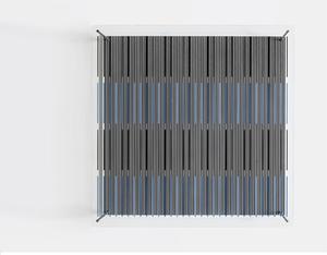 Jesús Rafael SOTO - Skulptur Volumen - Tés azules y negras (De la serie síntesis)