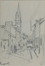Emile Othon FRIESZ - Drawing-Watercolor - DESSIN ORIGINAL AU FUSAIN SIGNÉ SIGNED CHARCOAL DRAWING