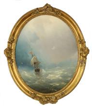 Ivan Constantinovich AIVAZOVSKY - Painting - Ship in Stormy Seas