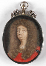"Jean MICHELIN - Miniatura - ""Duke Wilhelm Georg of Brunswyck-Celle"" important miniature!"