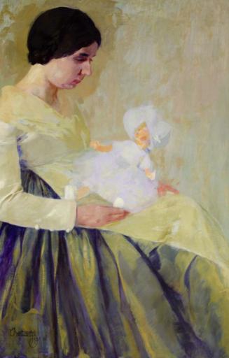 Umberto BOTTAZZI - Gemälde - La bambola bianca (1929)