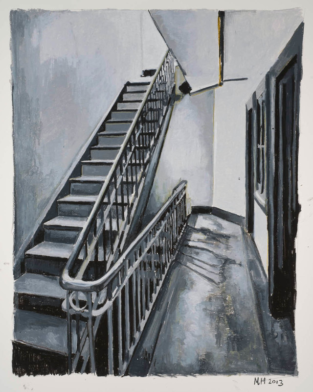 Mercedes HELNWEIN - Drawing-Watercolor - Stairs