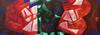 Raul Enmanuel POZO - Pintura - Formas en rojo, verde y azul