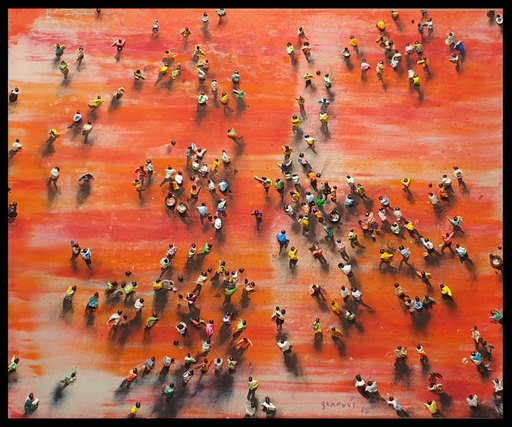 Juan GENOVES - Painting - Cosmético