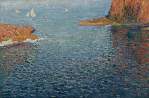 Henri MARTIN - Pintura - Calanques aux environs de Marseille