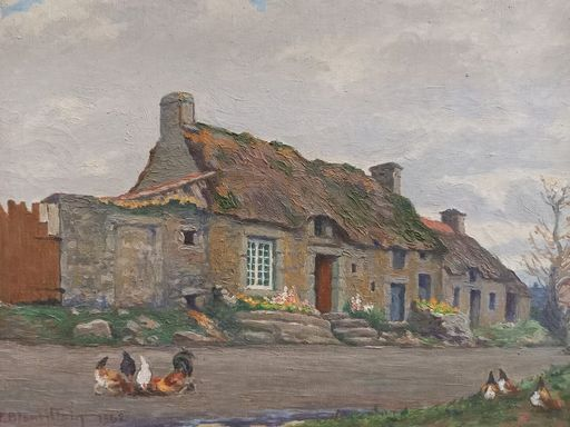 Paul BLANVILLAIN - Painting - Barfleur