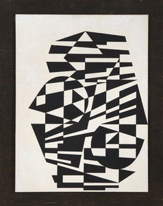 Victor VASARELY - Painting - Liosor, N°1099