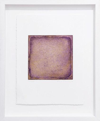 Gotthard GRAUBNER - Estampe-Multiple - Farbradierung violett-gold
