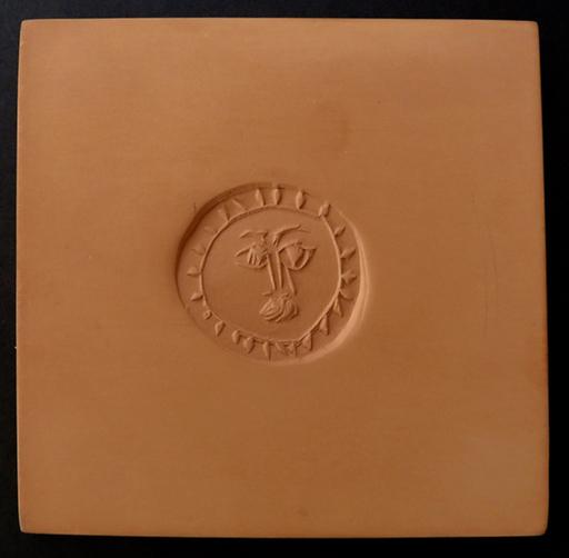 Pablo PICASSO - Ceramiche - Carré - Visage d'homme