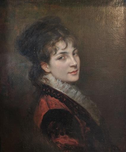 Jules James ROUGERON - Painting - Portrait