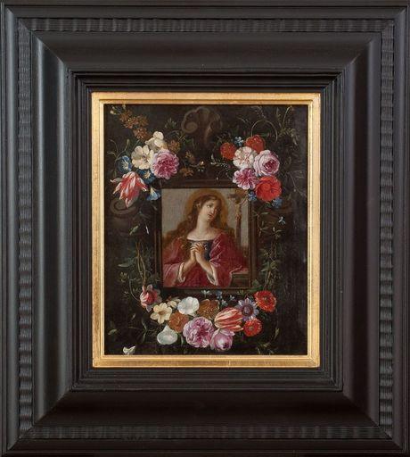Jan I VAN KESSEL - 绘画 - MARY MAGDALENE IN FLOWER BOX